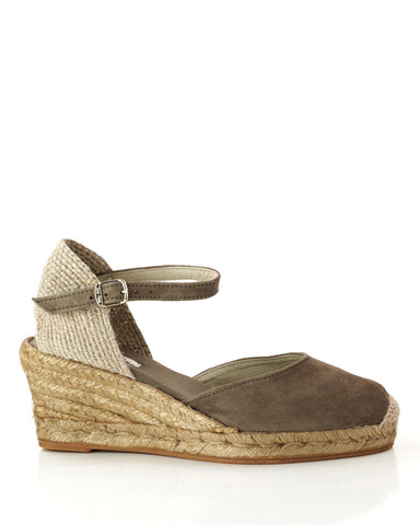 Lloret 5 Taupe Suede Wedge Espadrille - The Espadrille Hut