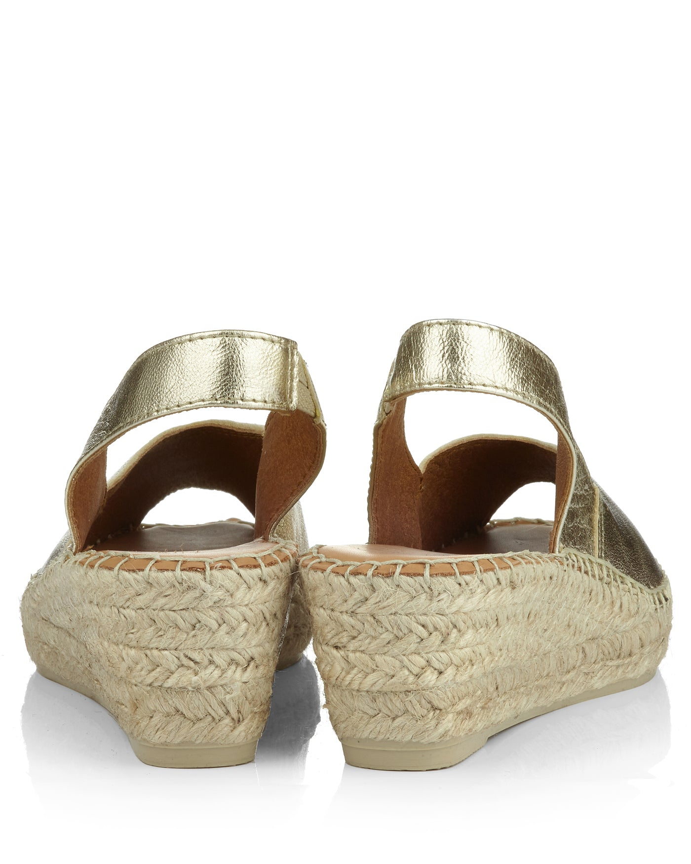 Bernia Platinum Leather Peeptoe Slingback Espadrilles - The Espadrille Hut