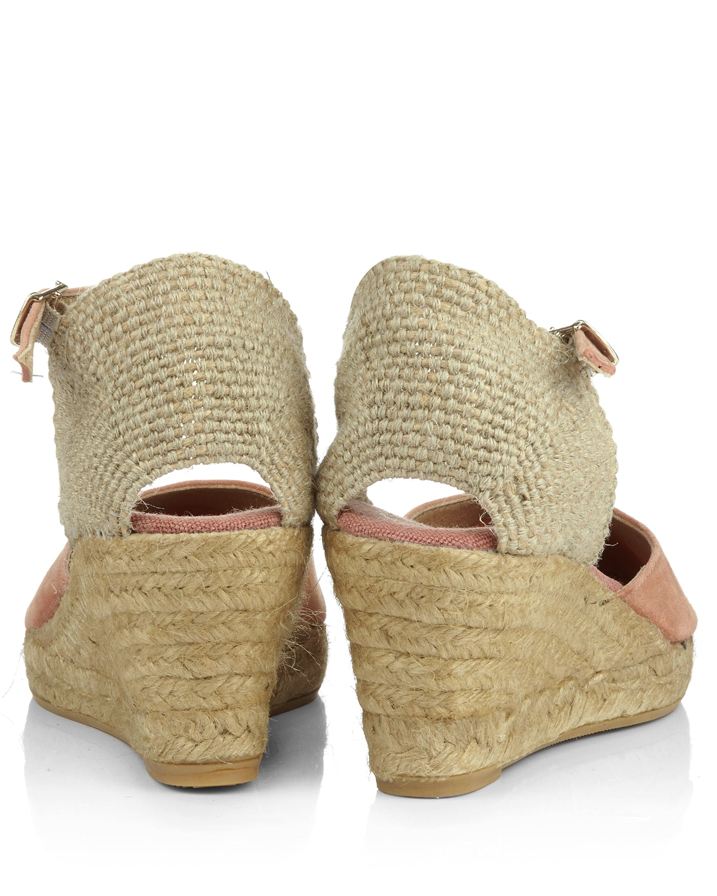 Lloret Papaya Pink Suede Espadrille Wedges - The Espadrille Hut