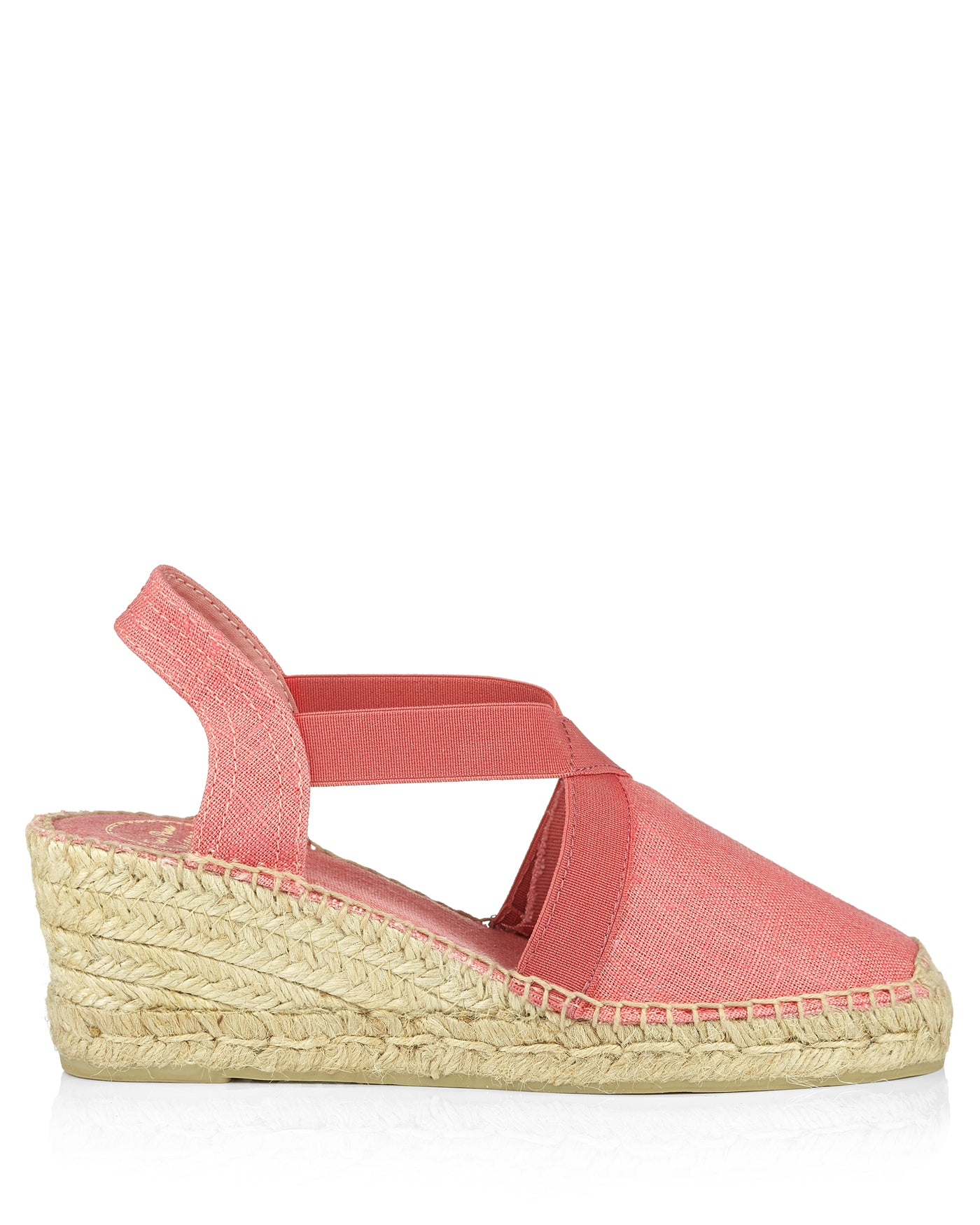 Ter Coral Linen Wedge Espadrilles - The Espadrille Hut