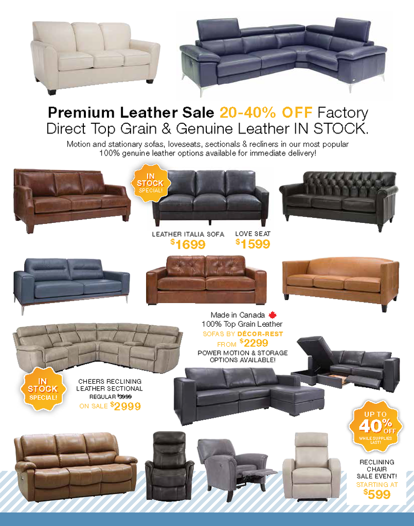 Amber's Furniture Flyer Leather Sale