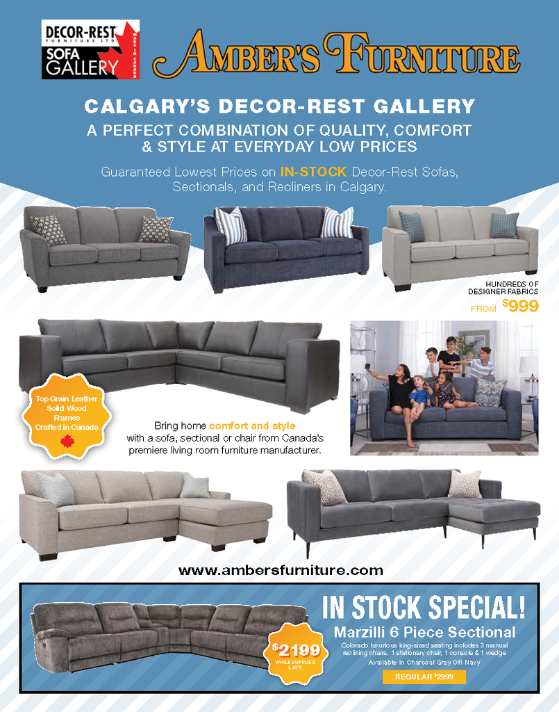 Amber's Furniture Flyer Calgary Decor-Rest Gallery Sale