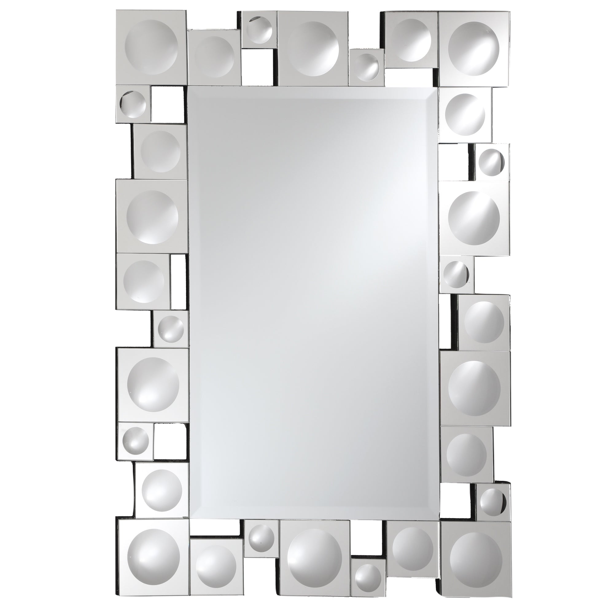 rectangular decorative mirror modern retro modern wall mirror decorative framed with dimensional mirrored squares breeze point m00202 16
