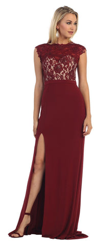 Maroon Lace Gown