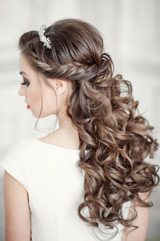 Curled Hair Wedding Style