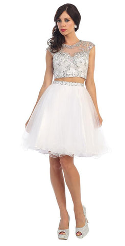Two Piece Short Wedding Dresses