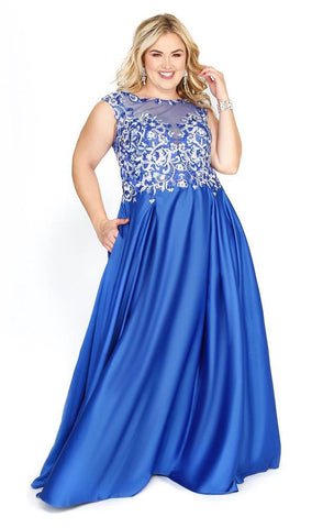 plus size long Homecoming dress