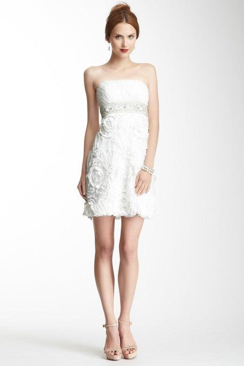 Sue Wong Short Strapless Dress - The Dress Outlet White