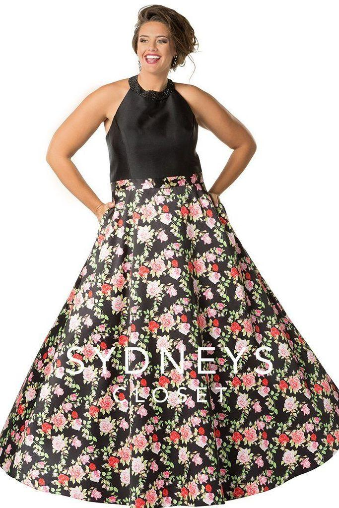 Sydneys Closet Long Evening Dress Prom Gown - The Dress Outlet Sydneys Closet
