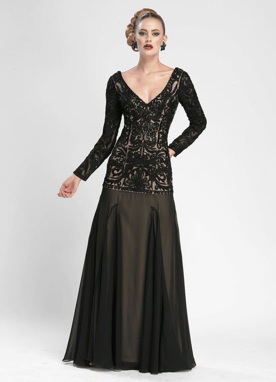 Sue Wong Long Formal Mother of the Bride Dress - The Dress Outlet