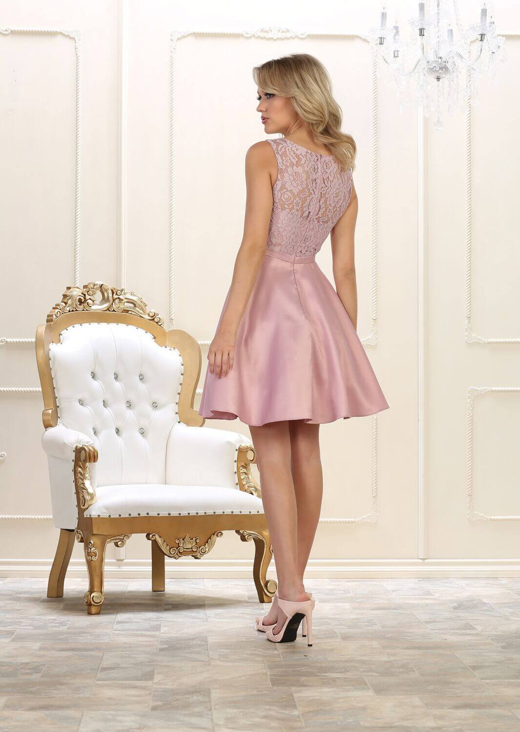 Short Prom Dress Formal Graduation Cocktail - The Dress Outlet  May Queen
