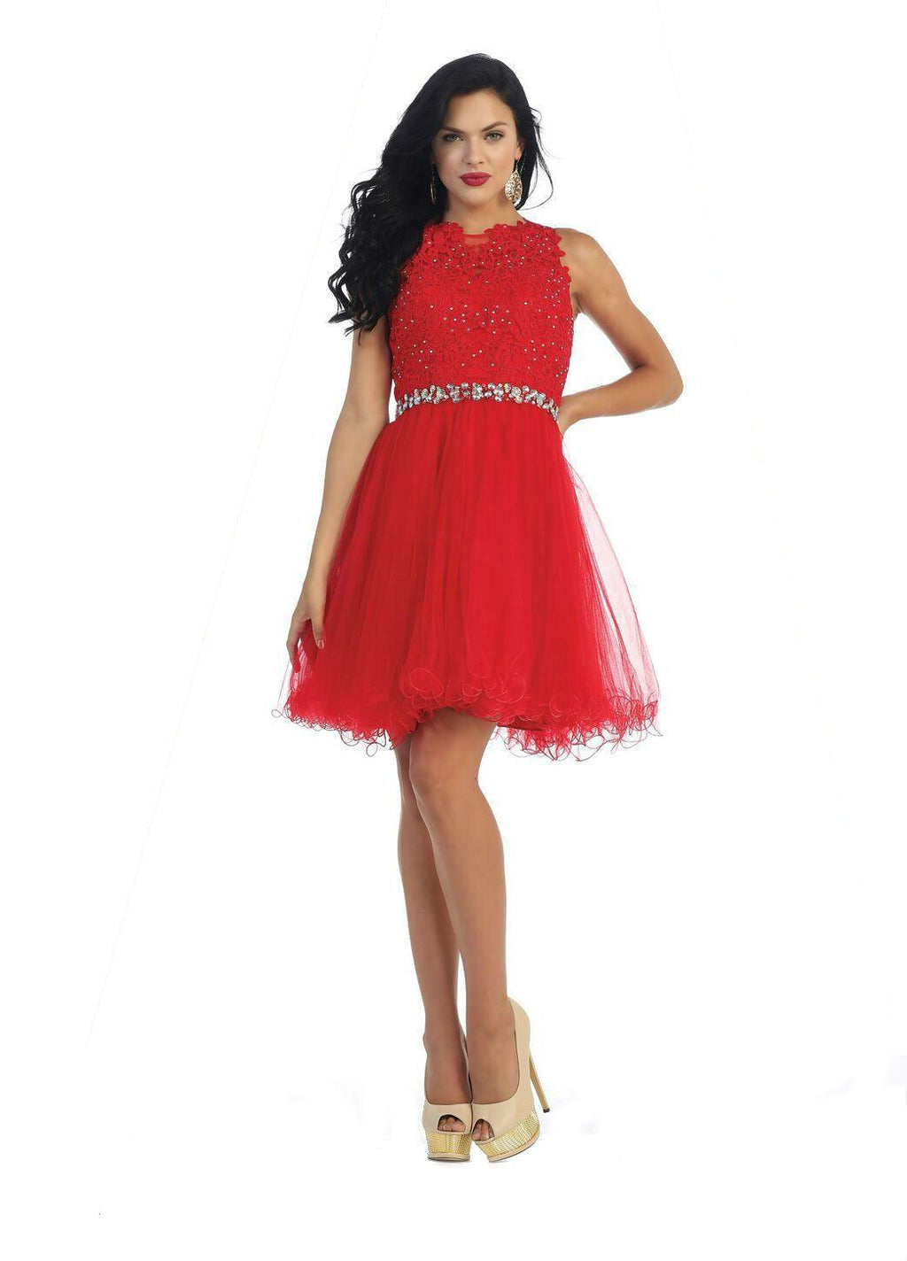 Short Prom Homecoming Graduation Dress - The Dress Outlet Red May Queen