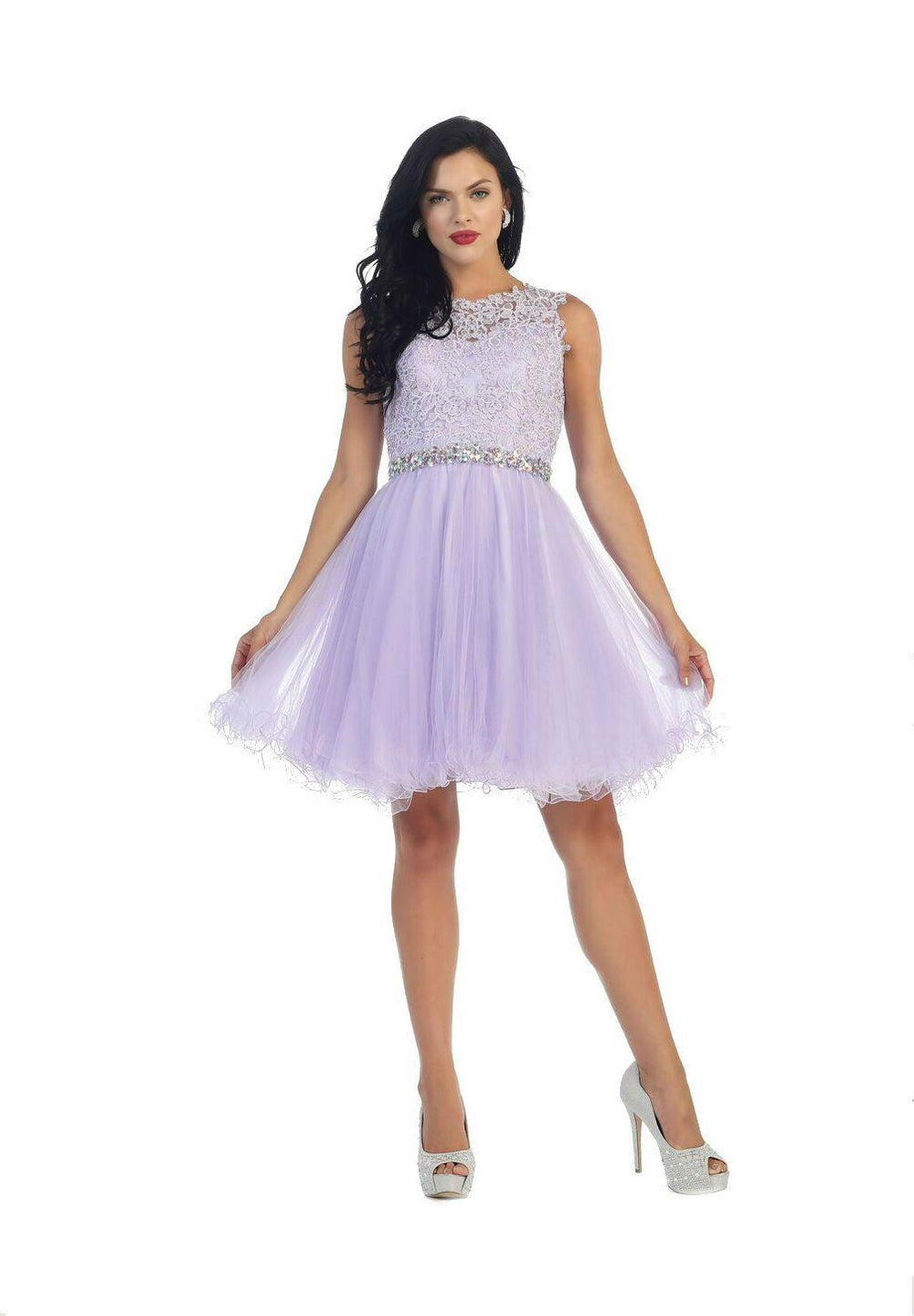 Short Prom Homecoming Graduation Dress - The Dress Outlet Lilac