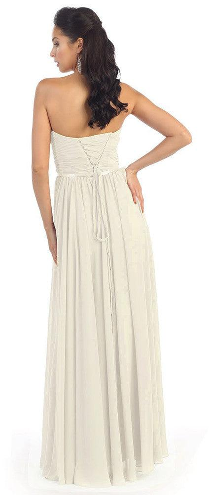 Simple Wedding Plus Size Long Gown - The Dress Outlet  May Queen