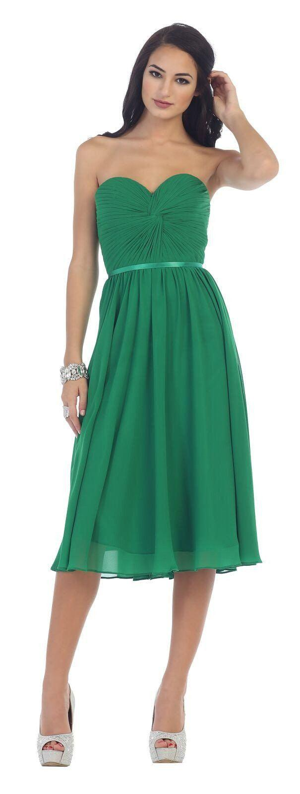 Short Prom Dress Plus Size Formal Cocktail - The Dress Outlet Emerald Green
