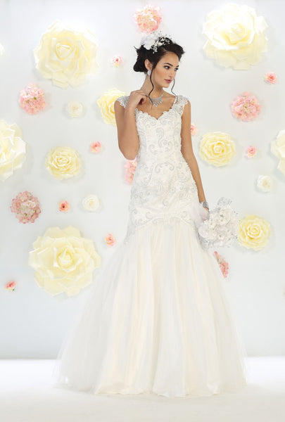 Wedding Long Gown - The Dress Outlet Off White May Queen