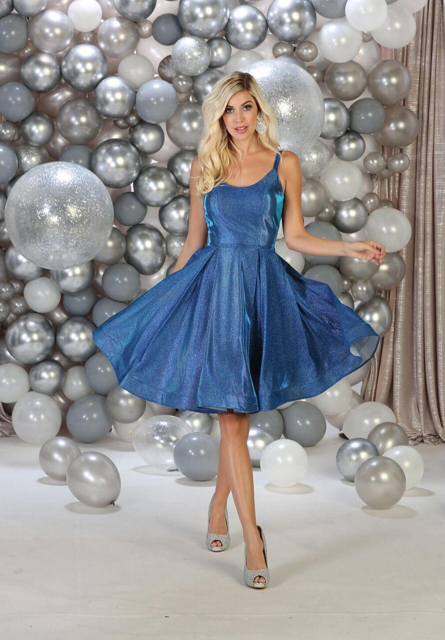 Short Sleeveless Homecoming Prom Dress - The Dress Outlet Royal