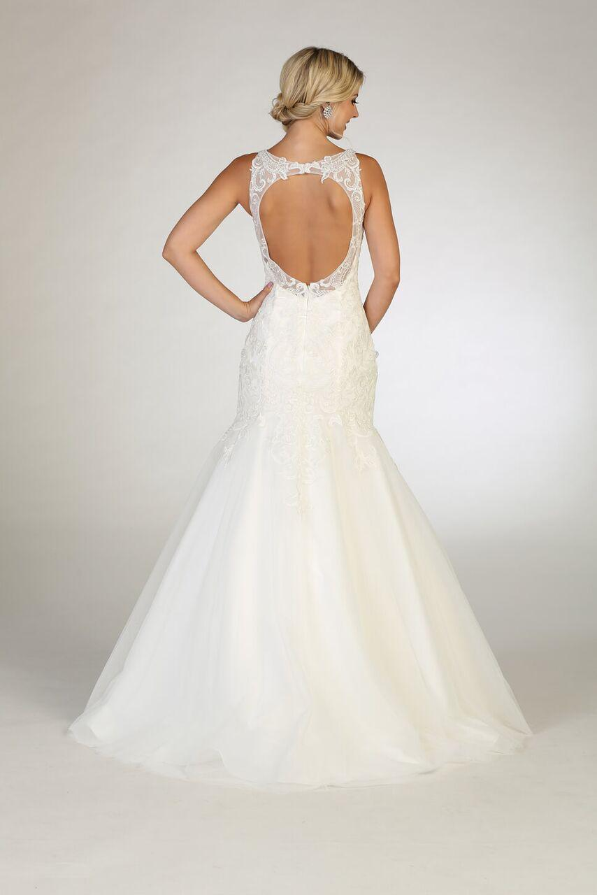 Simple Wedding Long Dress Bridal Mermaid Gown - The Dress Outlet