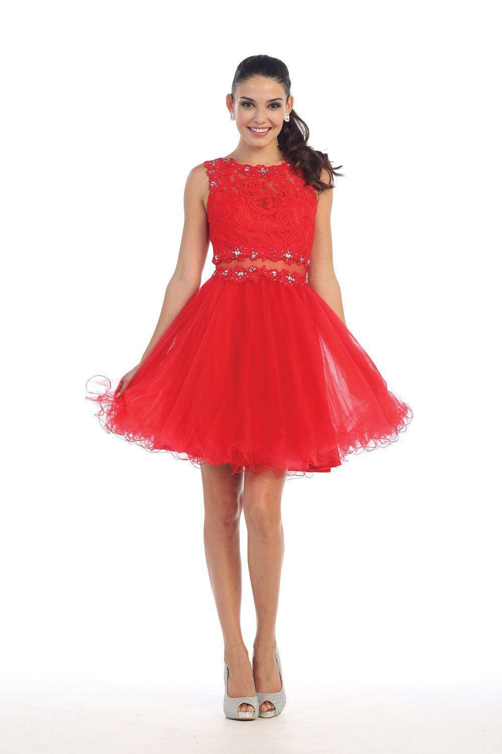Short Mock 2 Piece Prom Dress Homecoming Formal Plus Size ...