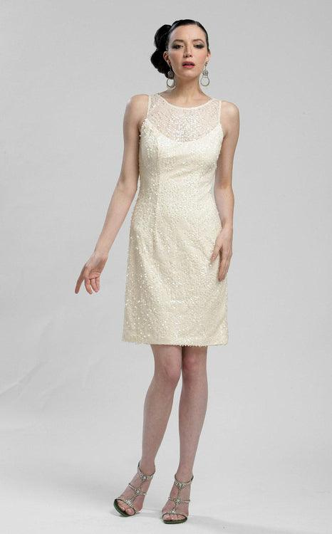 Sue Wong Short Cocktail Party Sequins Dress - The Dress Outlet Sue Wong