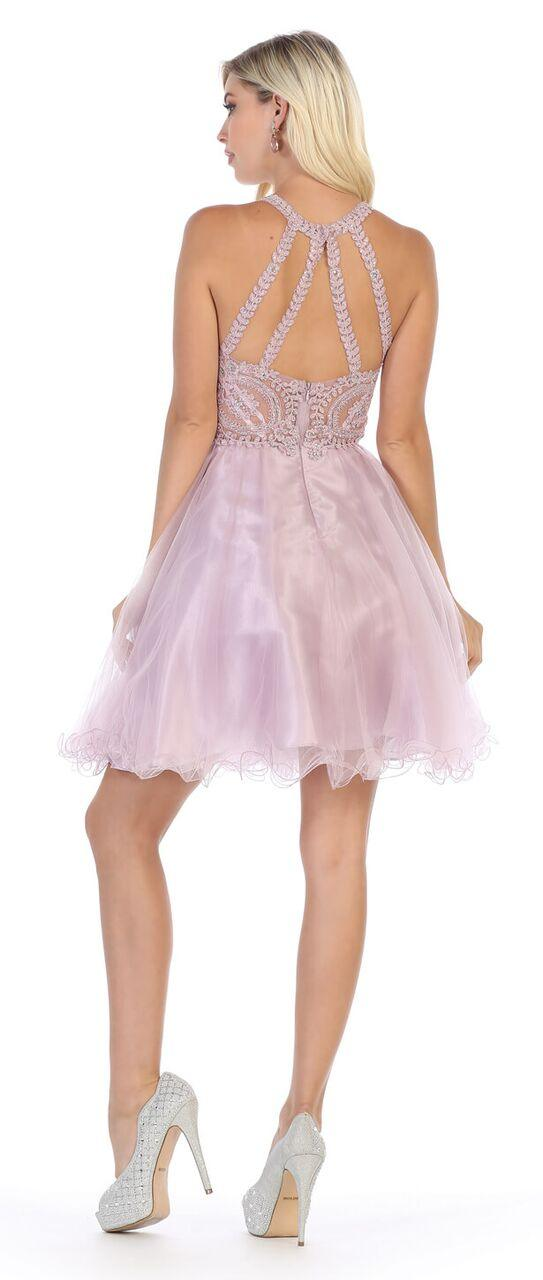 Short Prom Halter Neck Homecoming Dress - The Dress Outlet