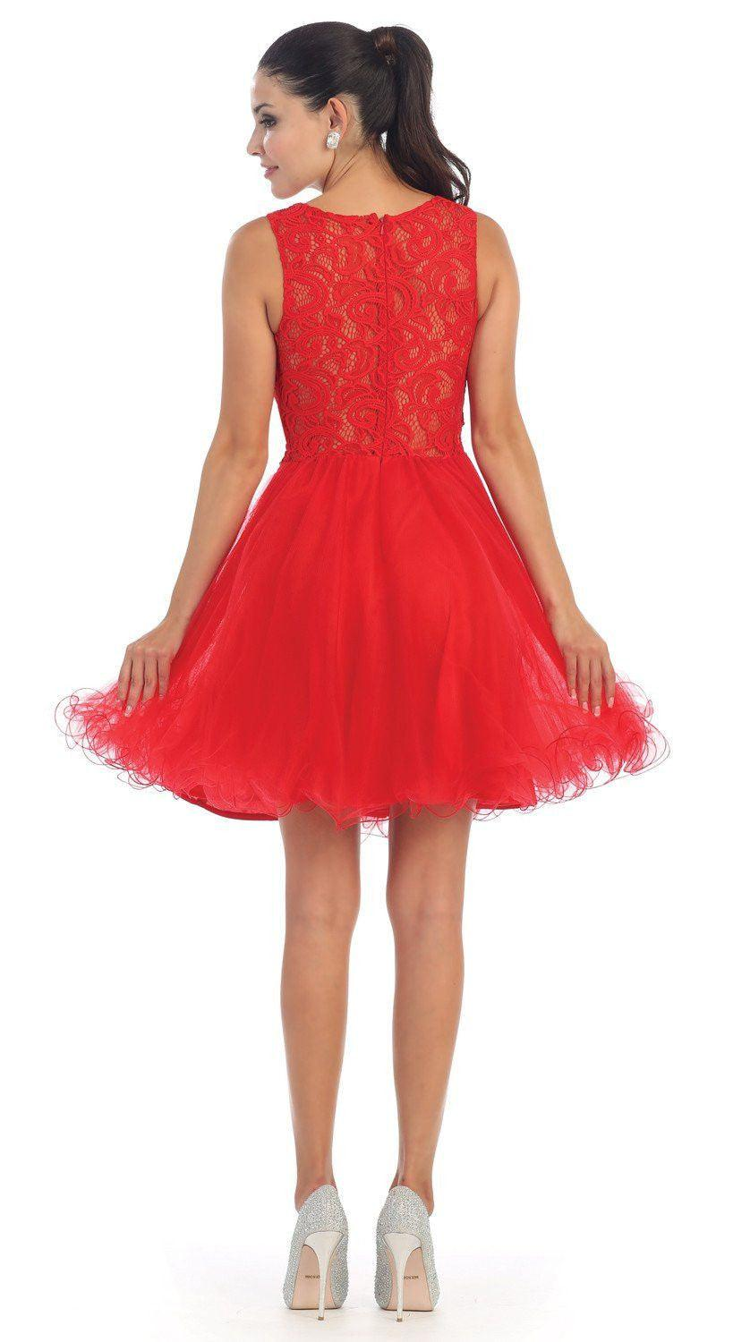 Short Prom Formal Homecoming Dress - The Dress Outlet  May Queen