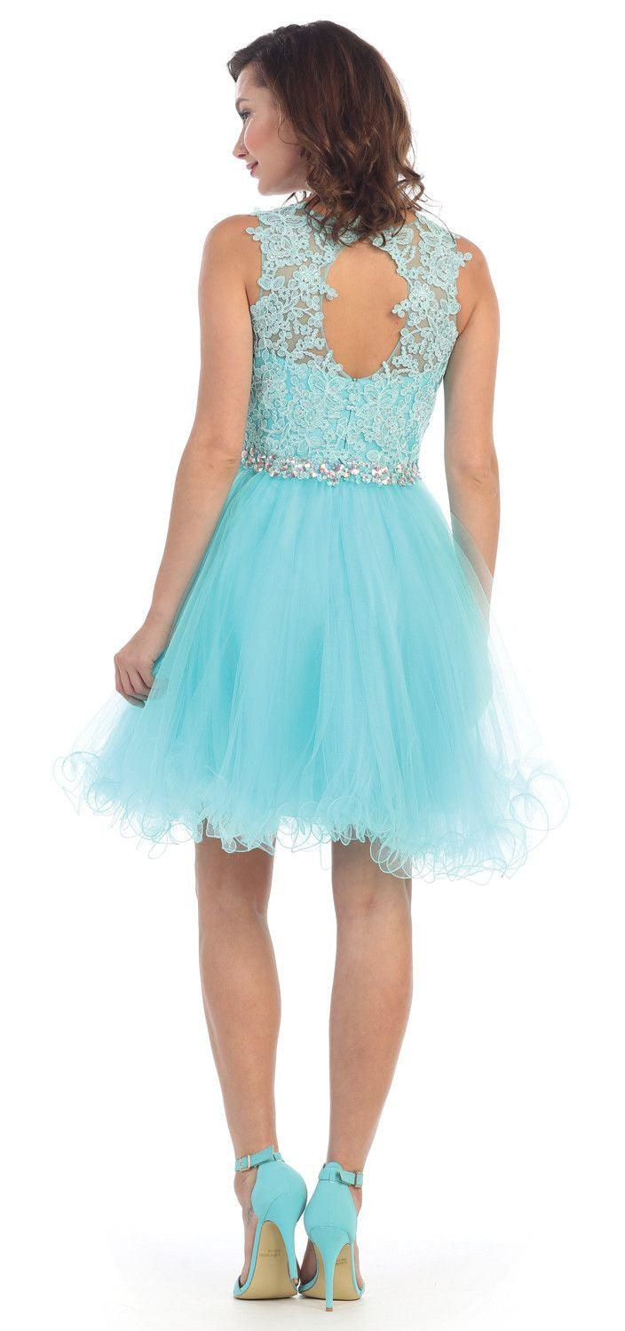 Short Prom Homecoming Graduation Dress - The Dress Outlet