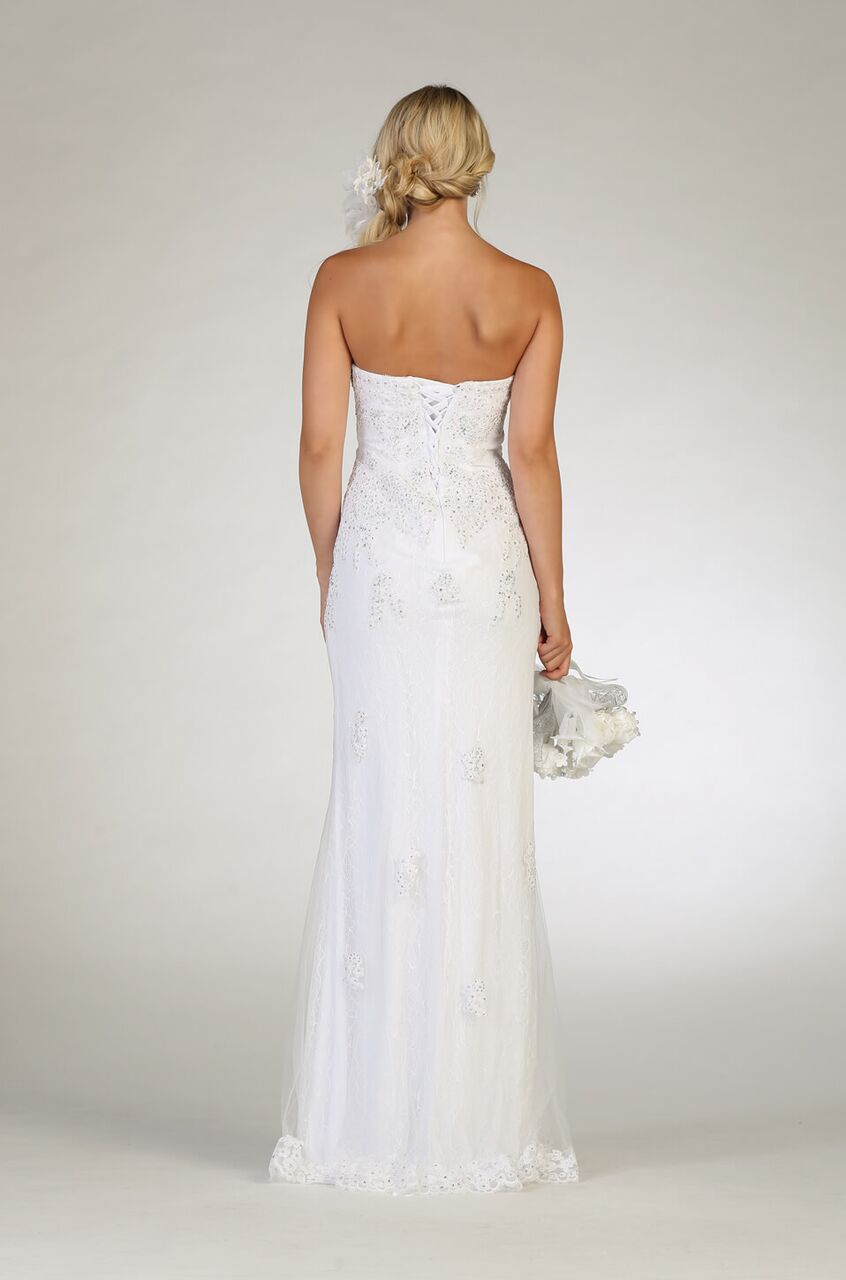 White Wedding Dress Formal Gown - The Dress Outlet  May Queen