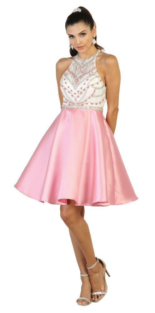 Short Prom Dress Homecoming Cocktail Party - The Dress Outlet Pink