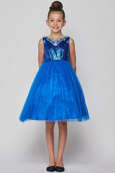 Sleeveless Sequin Short Dress Flower Girl