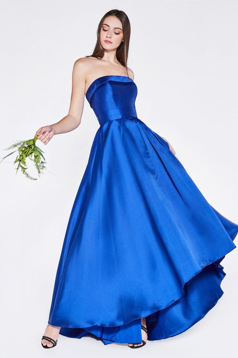 Strapless Long Prom Dress Evening Gown