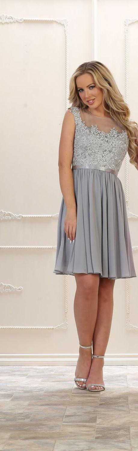 Short Prom Formal Plus Size Chiffon Dress