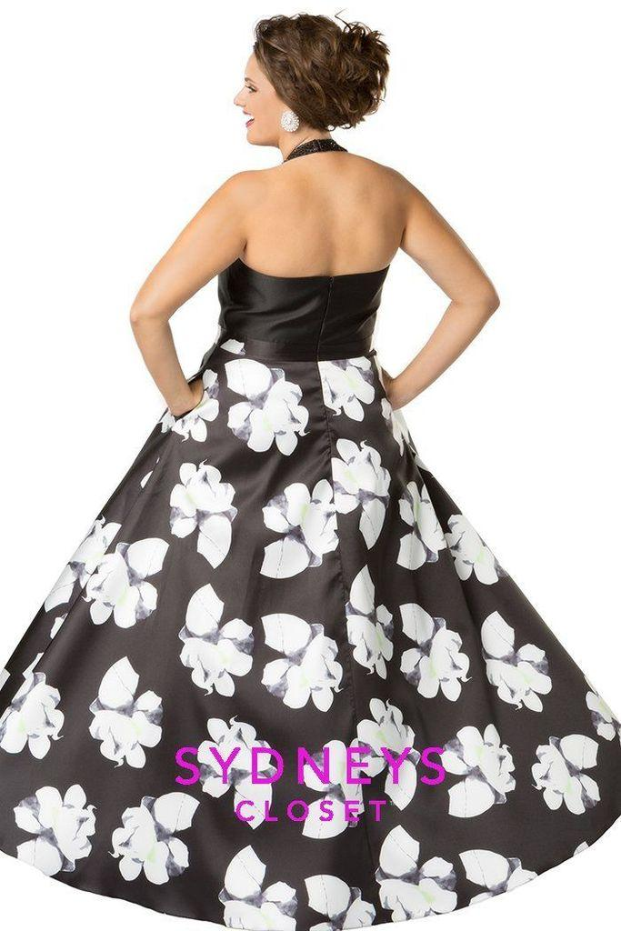 Sydneys Closet Long Prom Dress Floral Ball Gown - The Dress Outlet