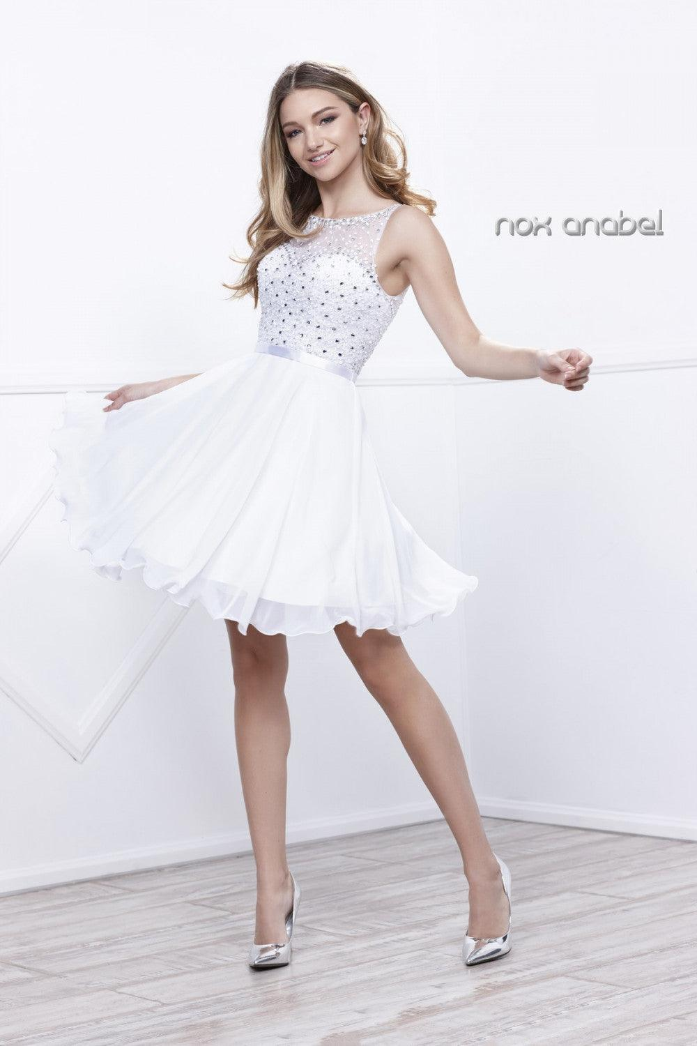 Short Prom Sexy Cocktail Dress - The Dress Outlet White