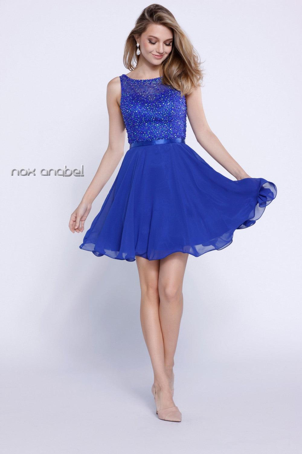 Short Prom Sexy Cocktail Dress - The Dress Outlet Royal Blue