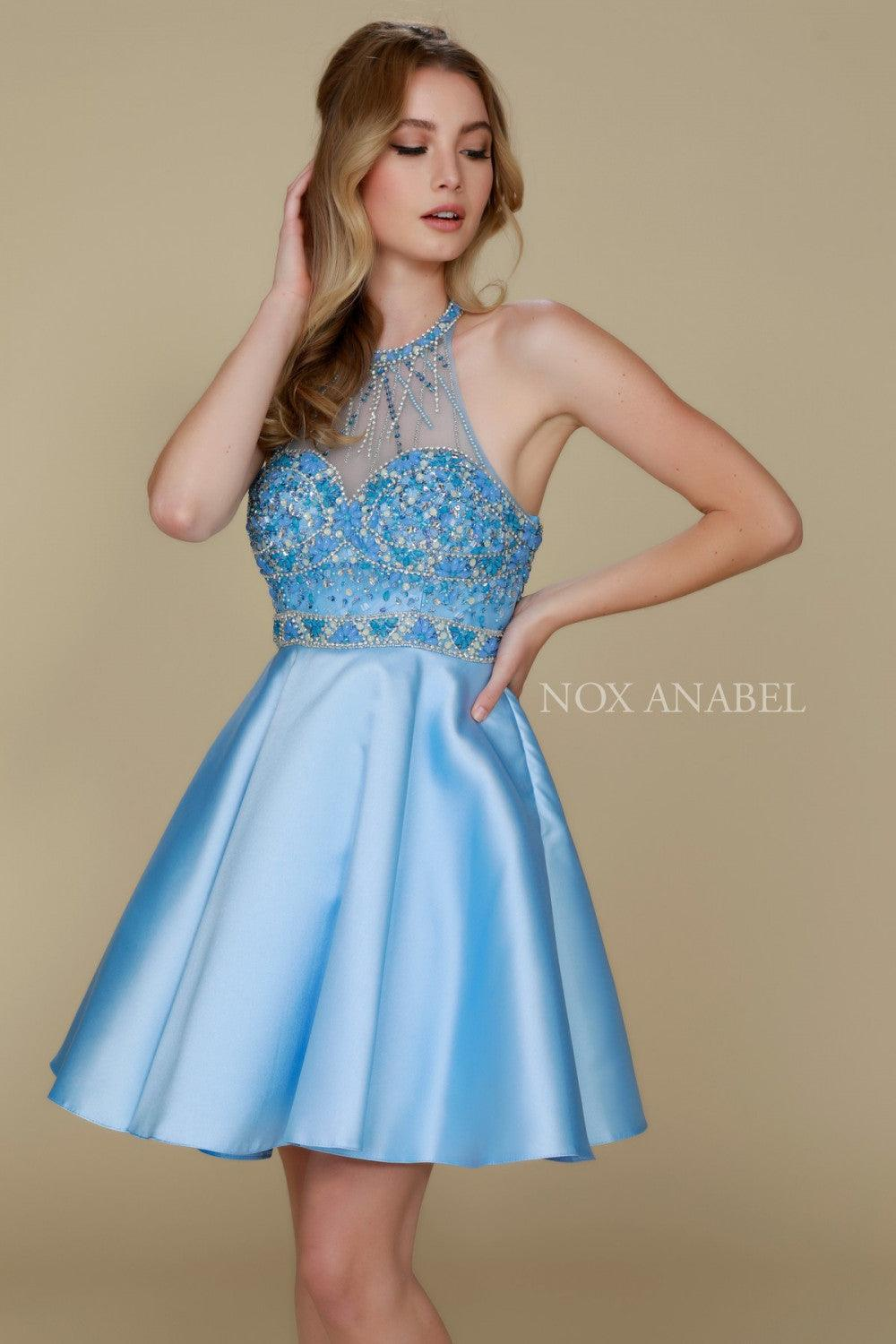 f93714dfd70 ... Short Sexy Prom Homecoming Dress - The Dress Outlet Ice Blue Nox Anabel  ...