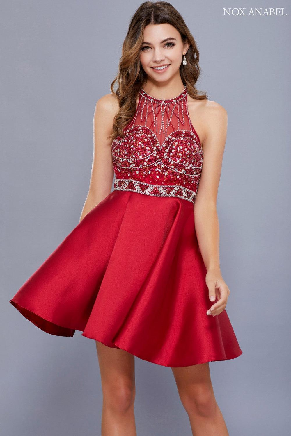 Short Sexy Prom Homecoming Dress - The Dress Outlet Burgundy