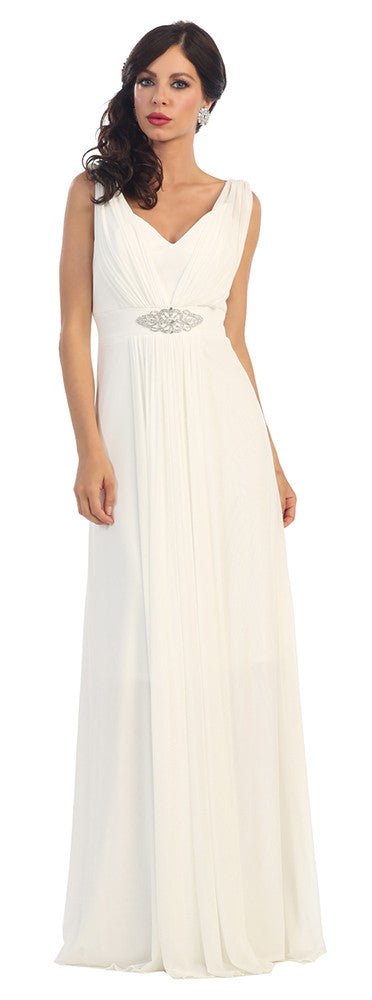 Wedding Long Gown Plus Size - The Dress Outlet Ivory