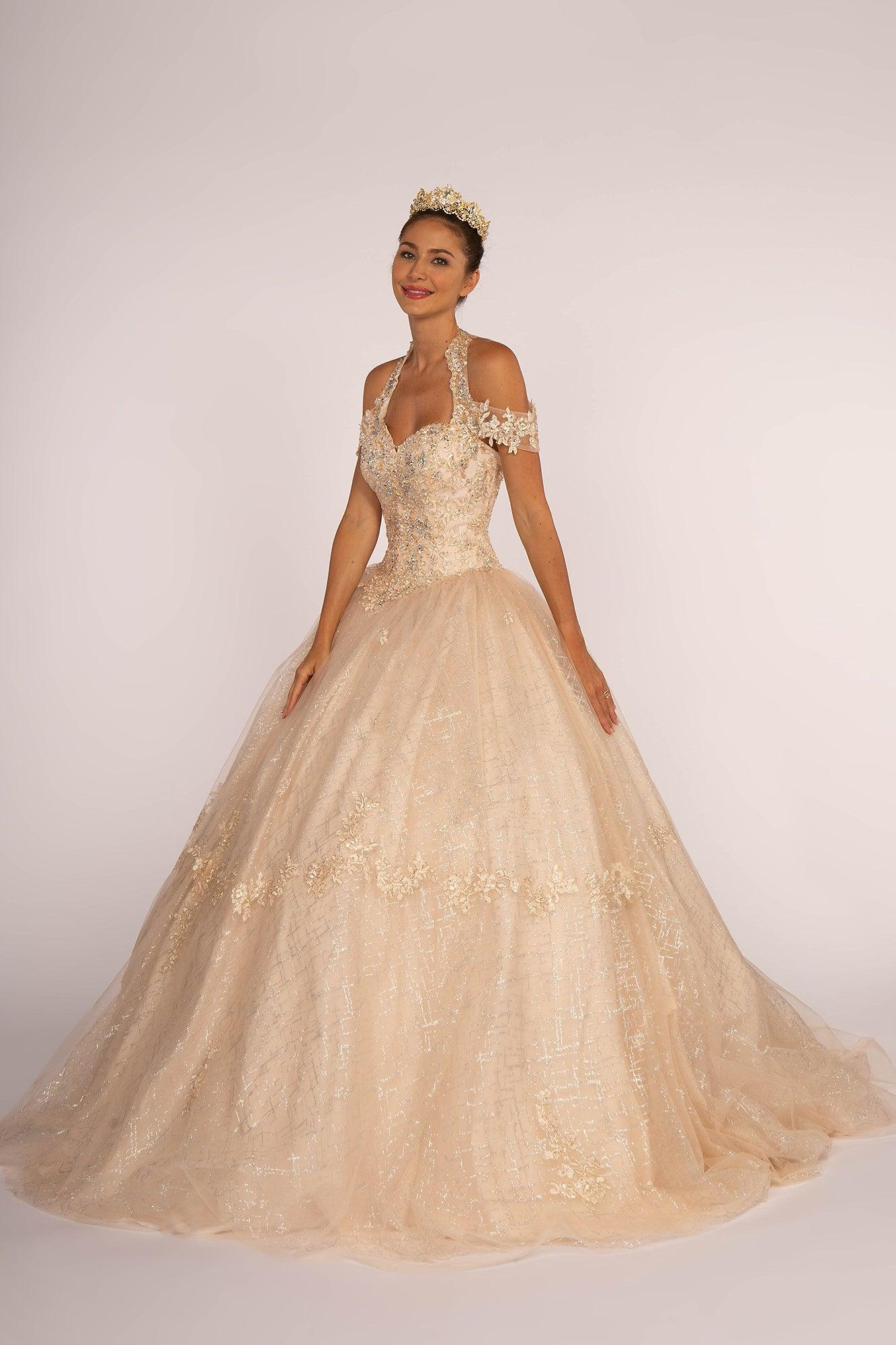 Sweet 16 Long Quinceanera Ball Gown - The Dress Outlet Elizabeth K