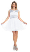 Short Wedding Plus Size Dress - The Dress Outlet White May Queen