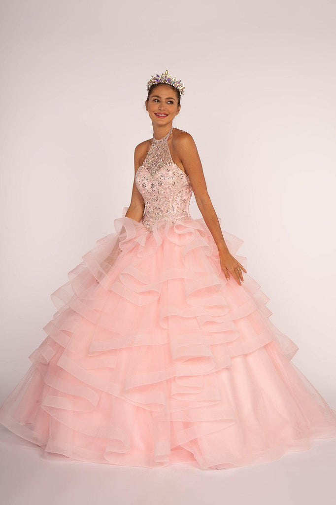 Sweet 16 Long Ball Gown Quinceanera - The Dress Outlet Elizabeth K