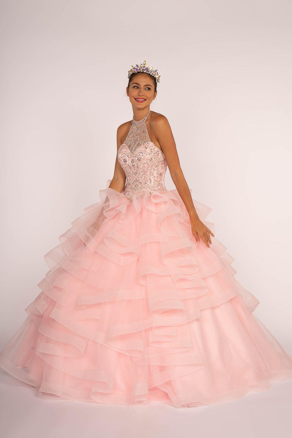 Sweet 16 Long Ball Gown Quinceanera - The Dress Outlet XS