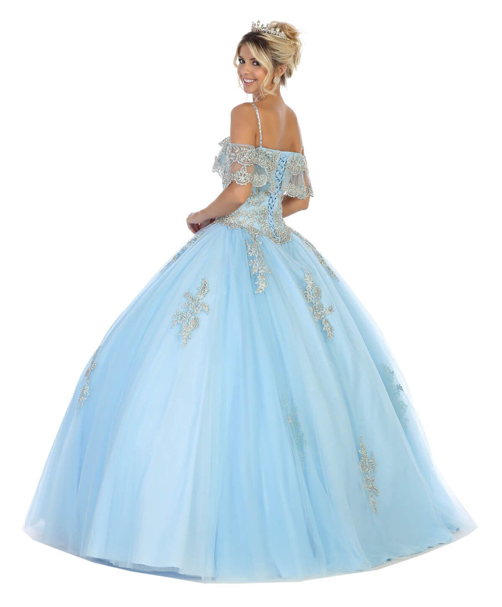 Sweet 16 Long Quinceanera Plus Size Dress - The Dress Outlet  May Queen