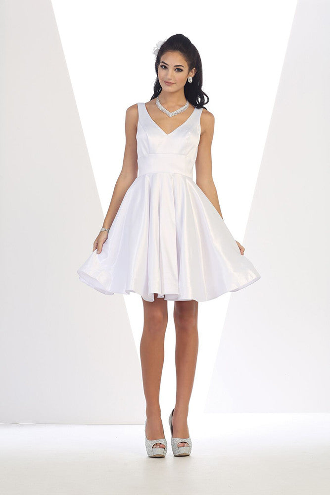 Wedding Short Dress - The Dress Outlet White