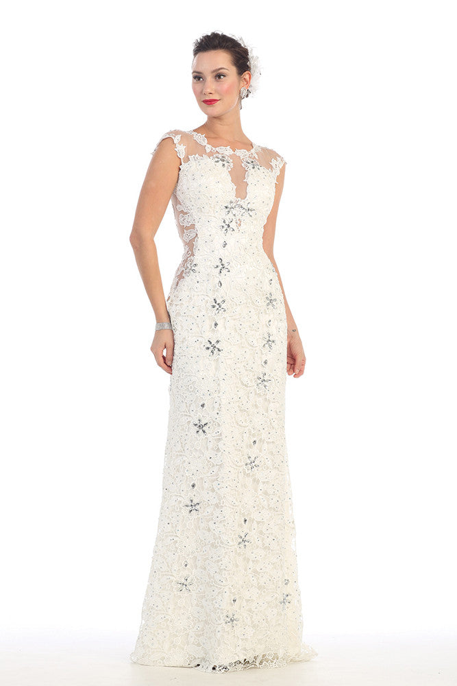 6ce7021bd Wedding Gown Plus Size Long Dress - The Dress Outlet Ivory May Queen ...