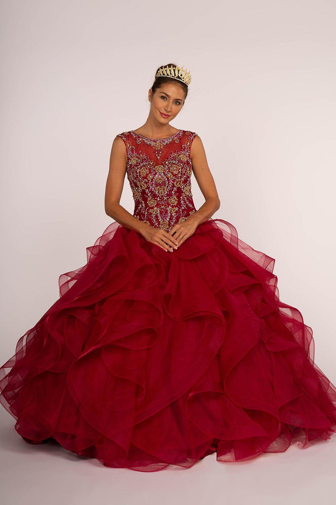 Sweet 16 Ball Gown Long Quinceanera - The Dress Outlet Elizabeth K