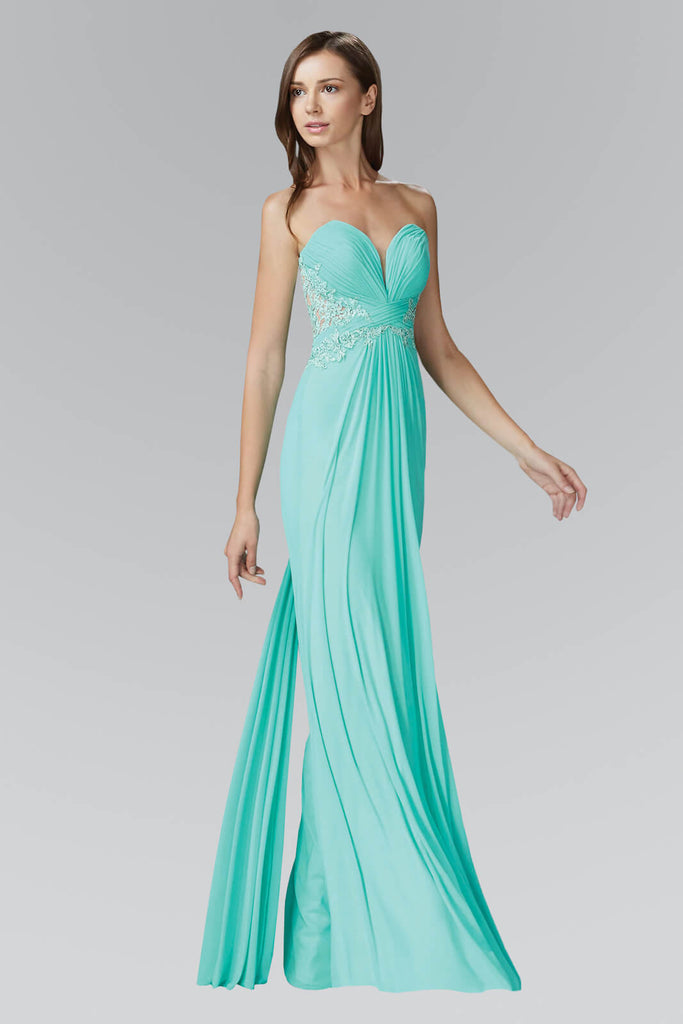 Strapless Sweetheart Long Prom Dress Formal - The Dress Outlet Elizabeth K