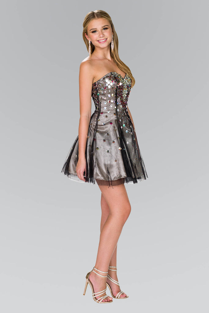 Strapless Short Prom Dress Formal Homecoming - The Dress Outlet Elizabeth K