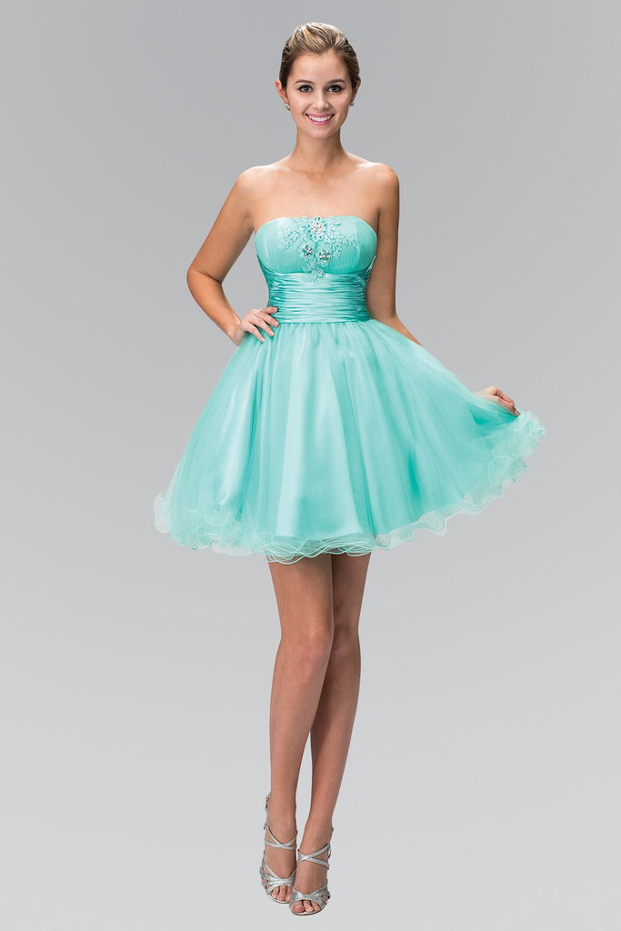 Strapless Short Prom Dress Homecoming - The Dress Outlet Elizabeth K