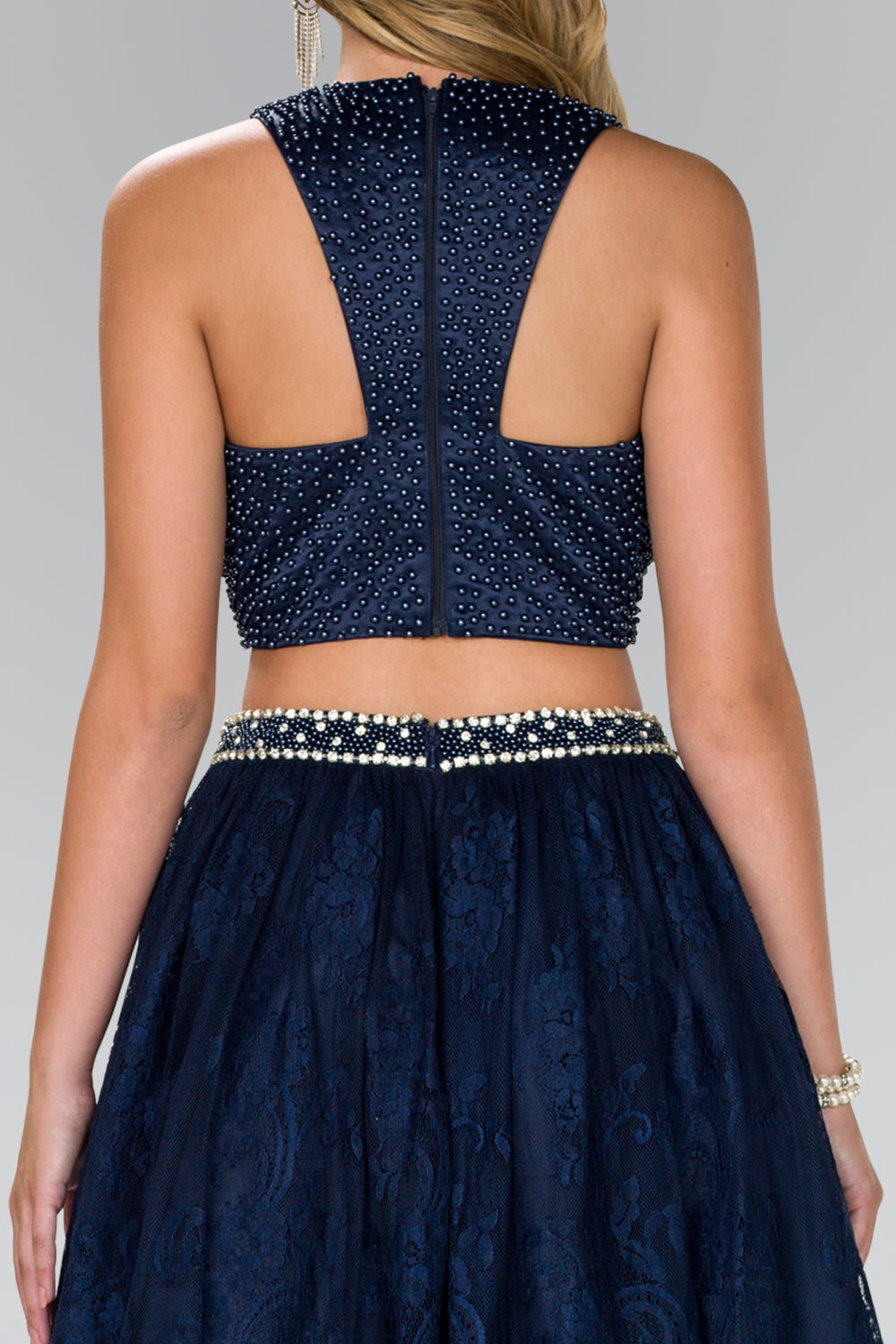 Two Piece Prom Dress Formal Cocktail - The Dress Outlet